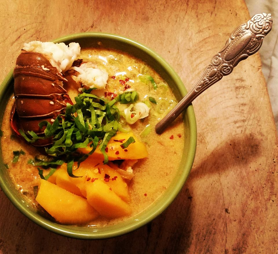 Nicaraguan Lobster and Coconut Curry