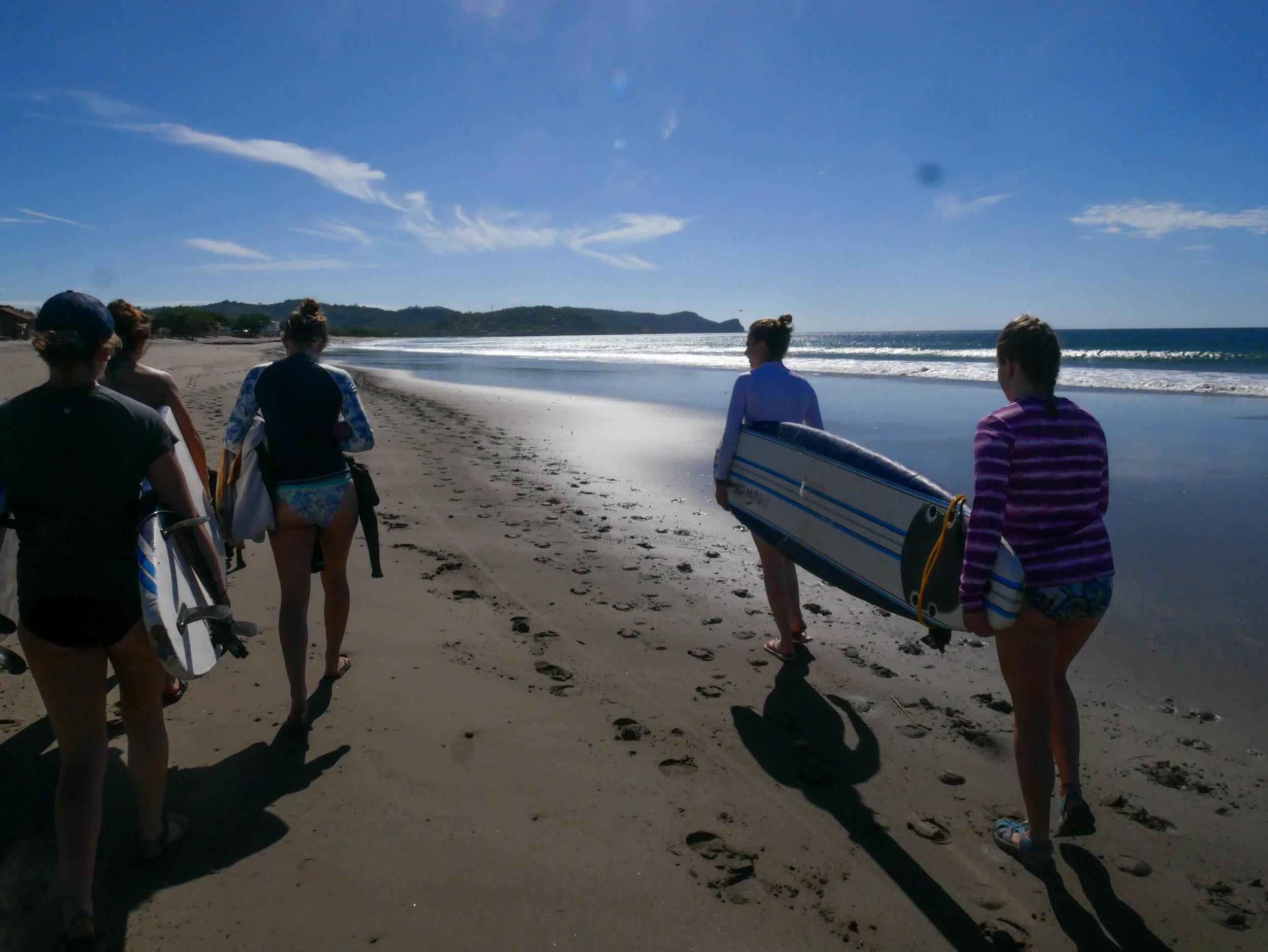 Surf's up! Lets get it ladies!