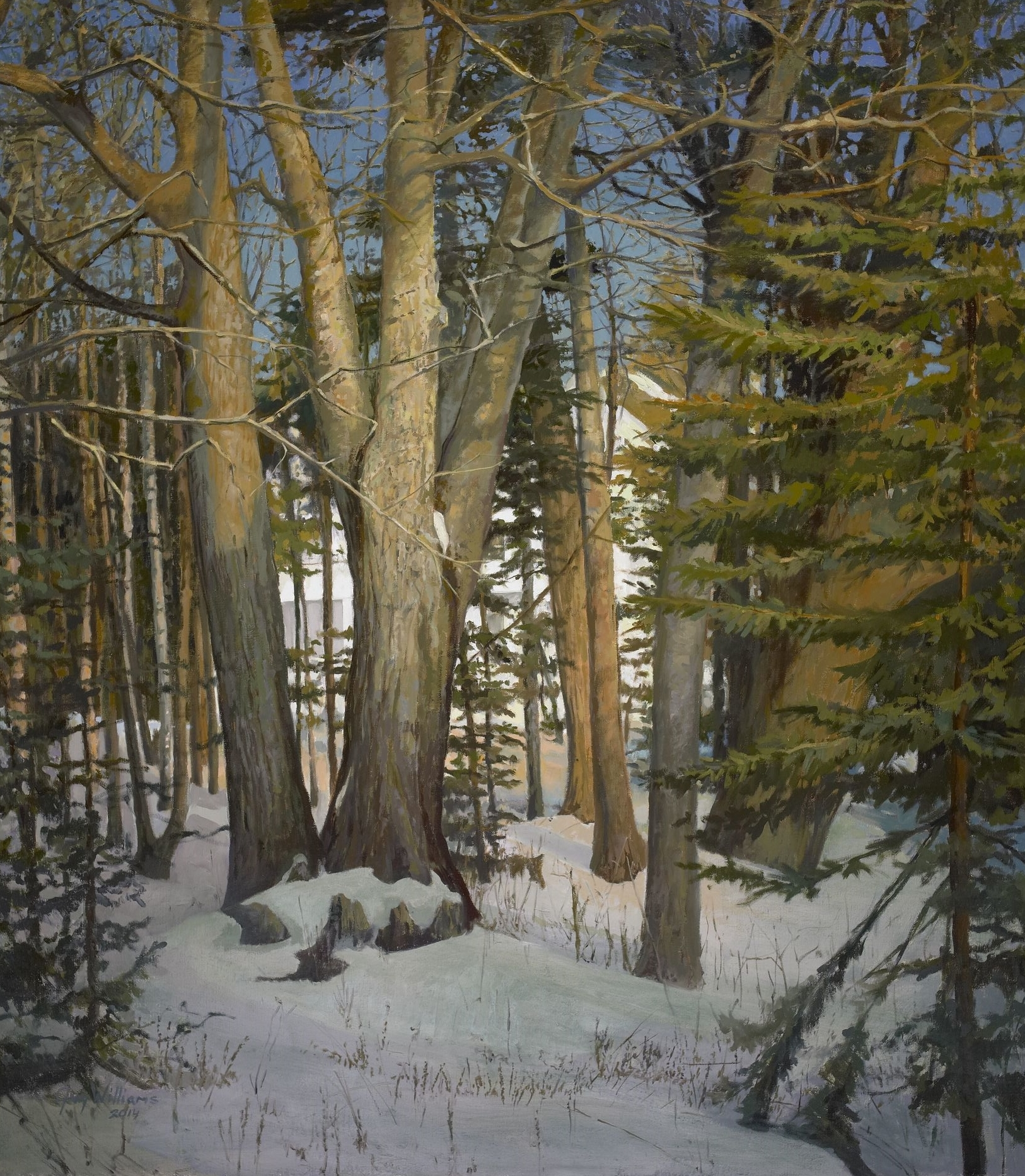 Winter Day Close to Home<br> Oil on Canvas