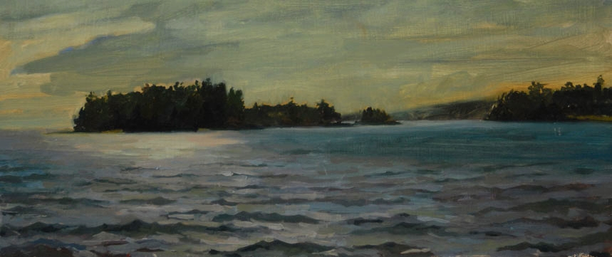 Seal Harbor<br>Oil on Canvas