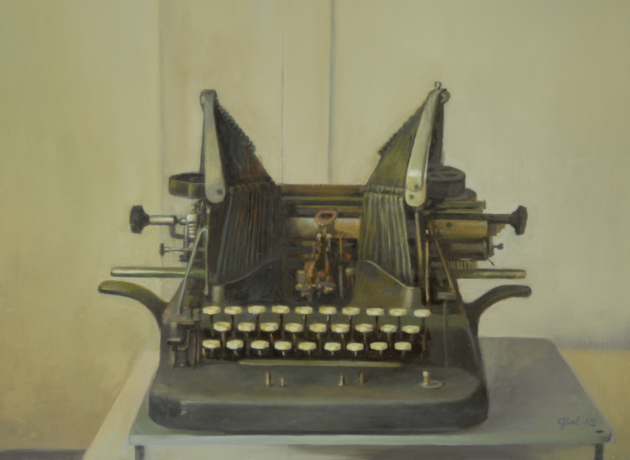 Olive's Typewriter<br>Oil on Canvas