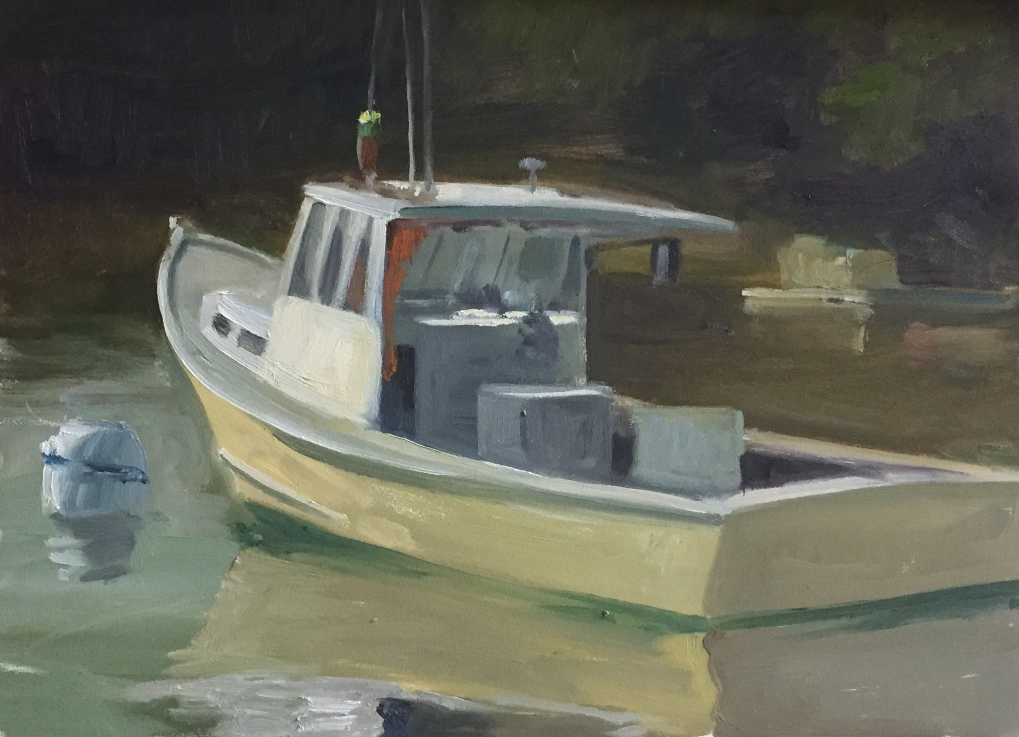 One Man's Boat<br>Oil on Canvas