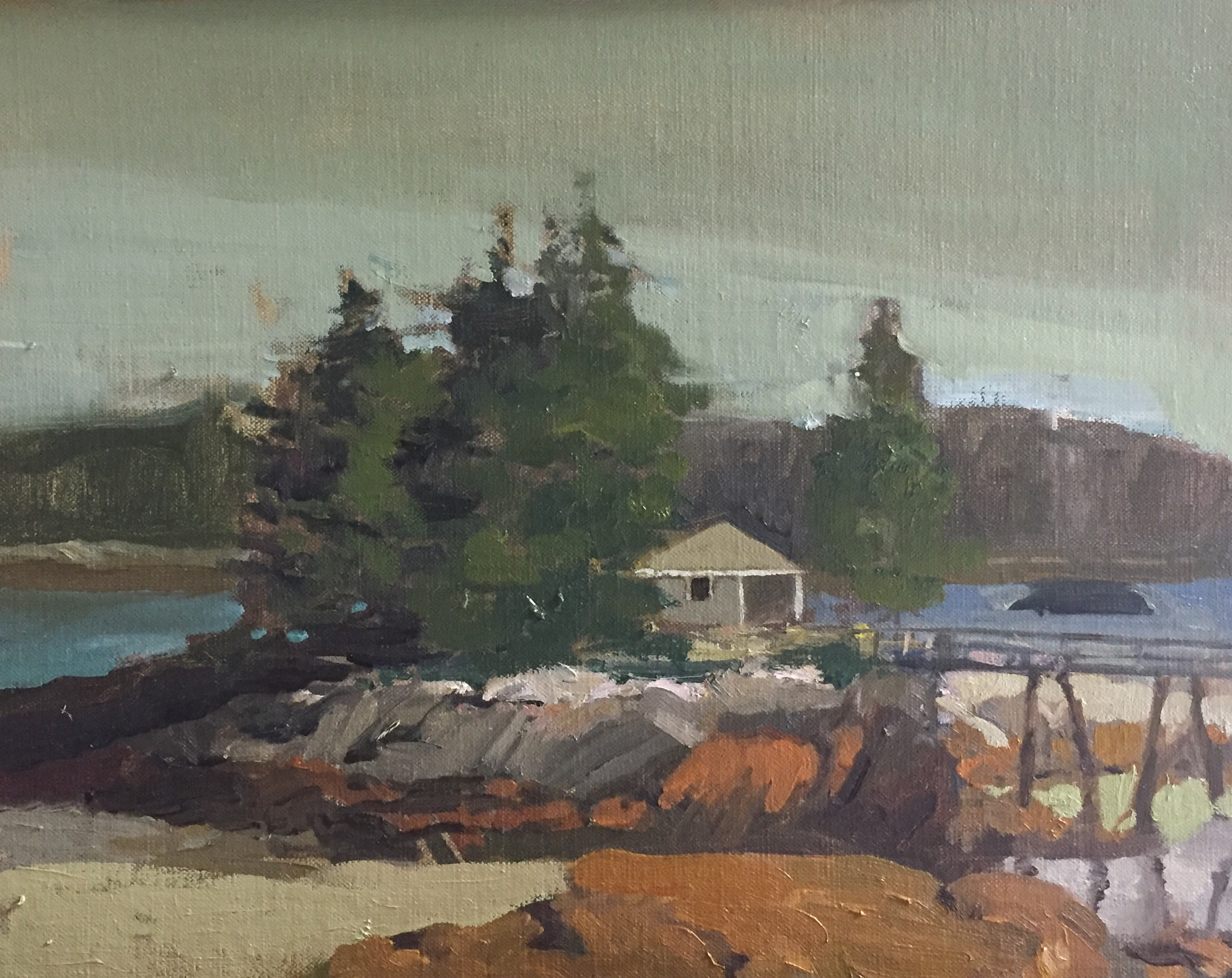 Small Camp<br>Oil on Canvas