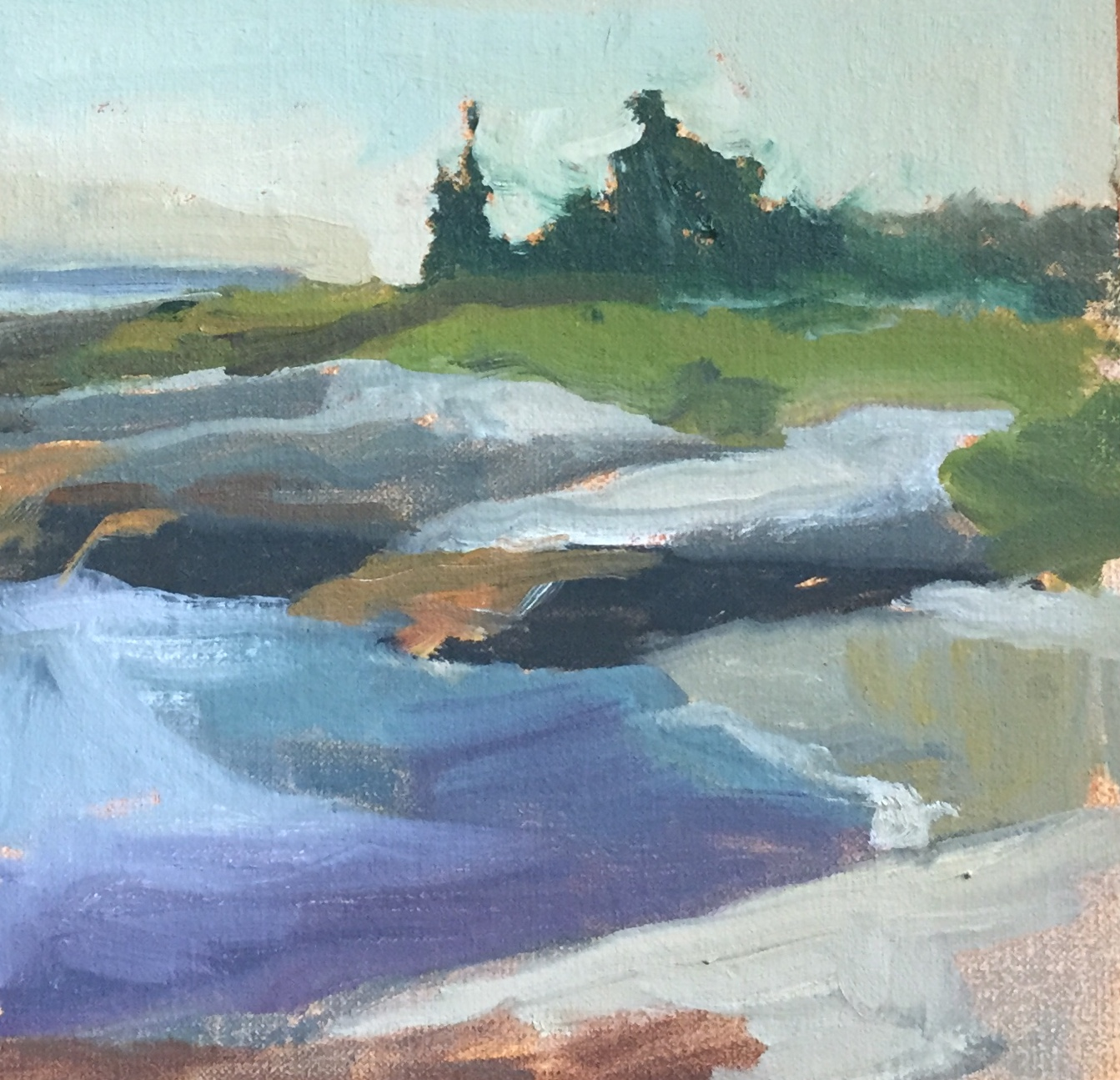Western Shore<br>Oil on Canvas