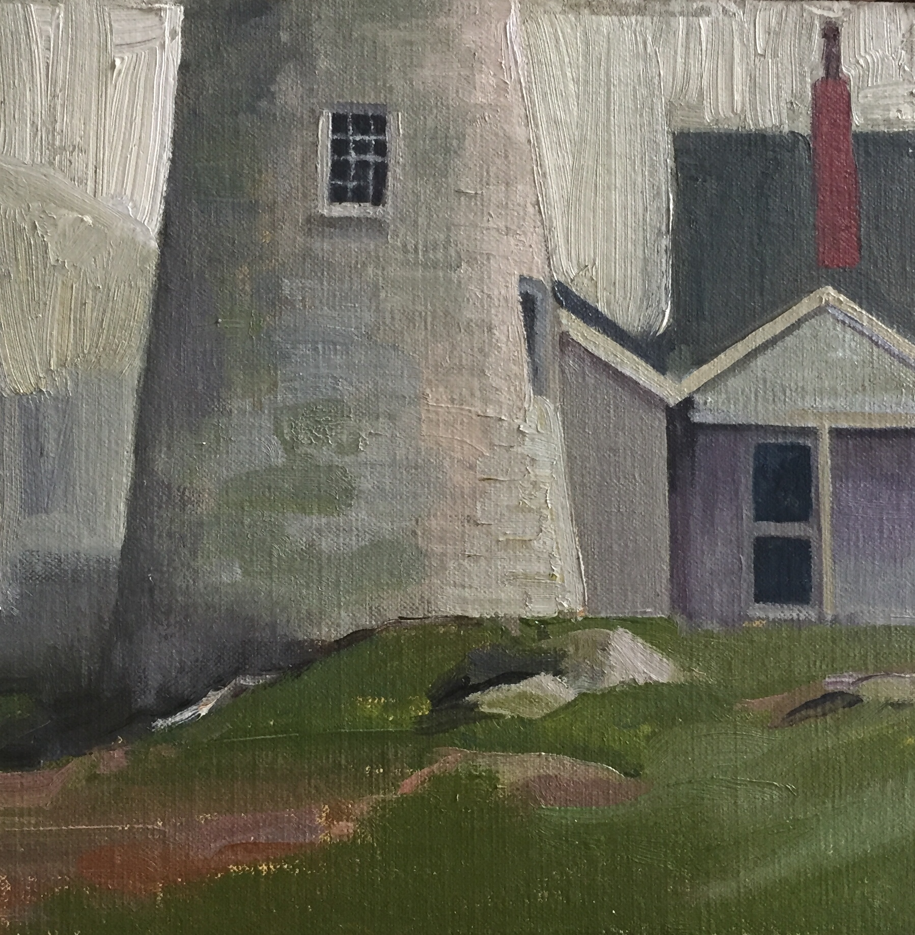 Pemaquid Lighthouse #3<br>Oil on Canvas