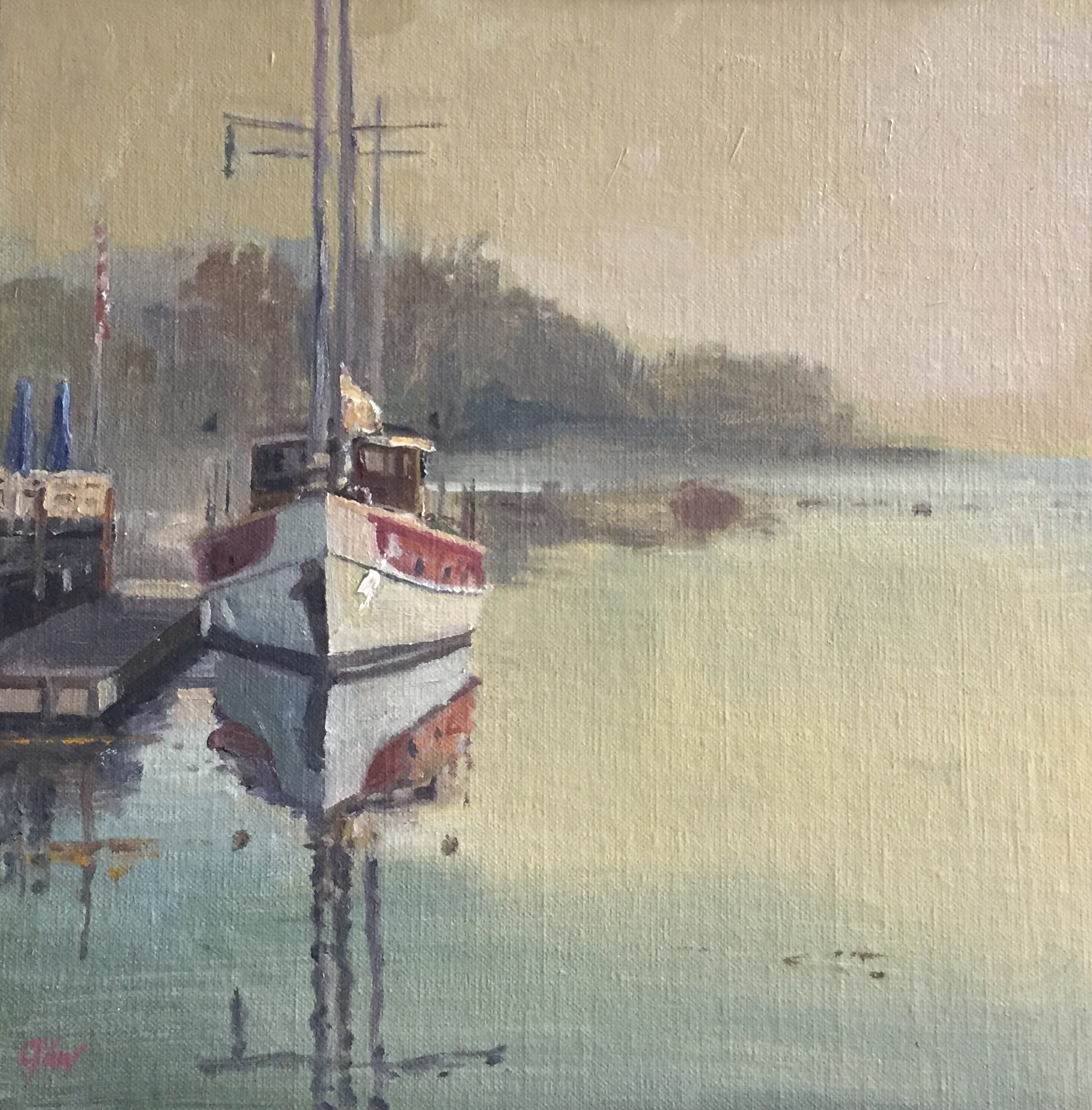 Castine in the Morning<br>Oil on Canvas