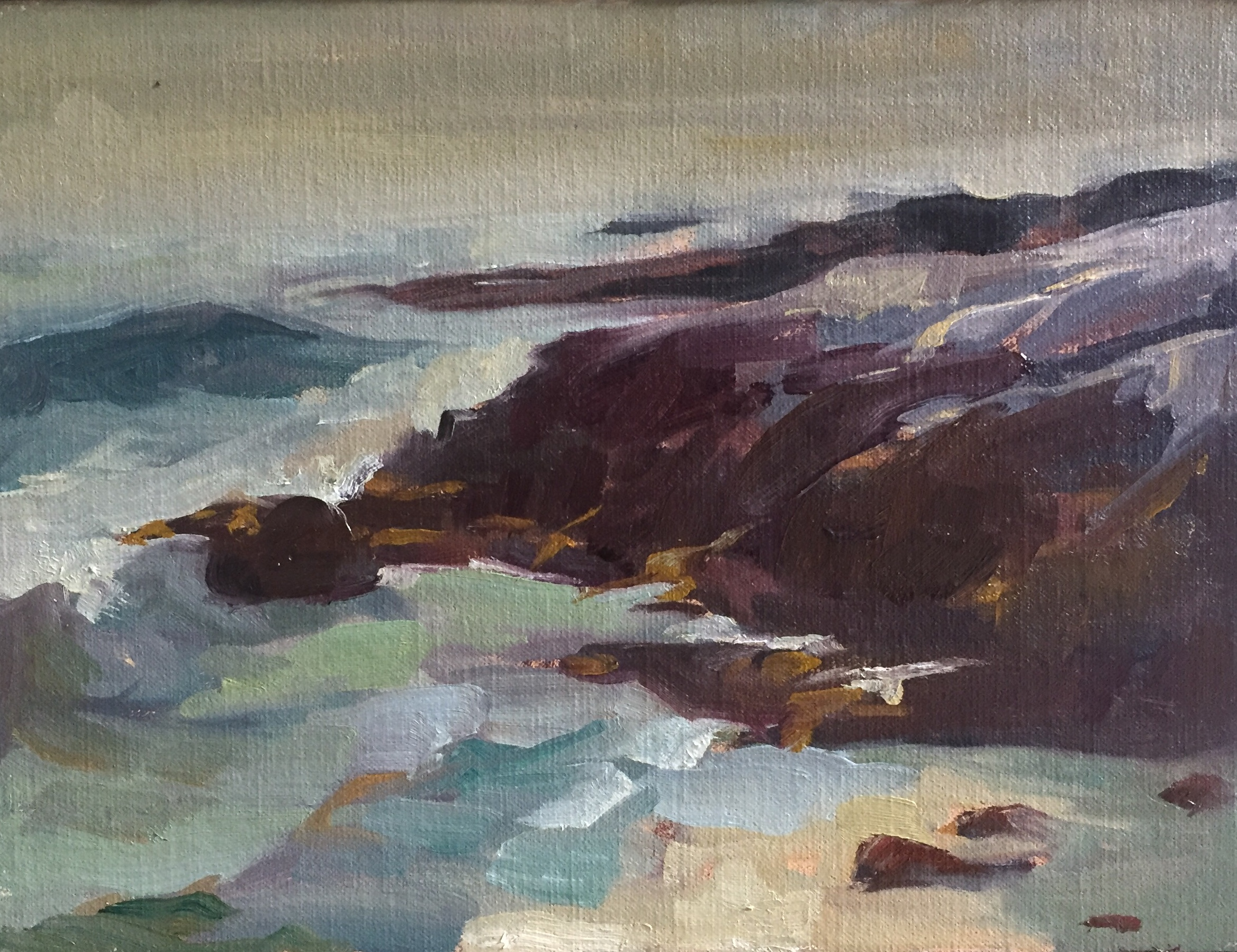 Storming Coast<br>Oil on Canvas