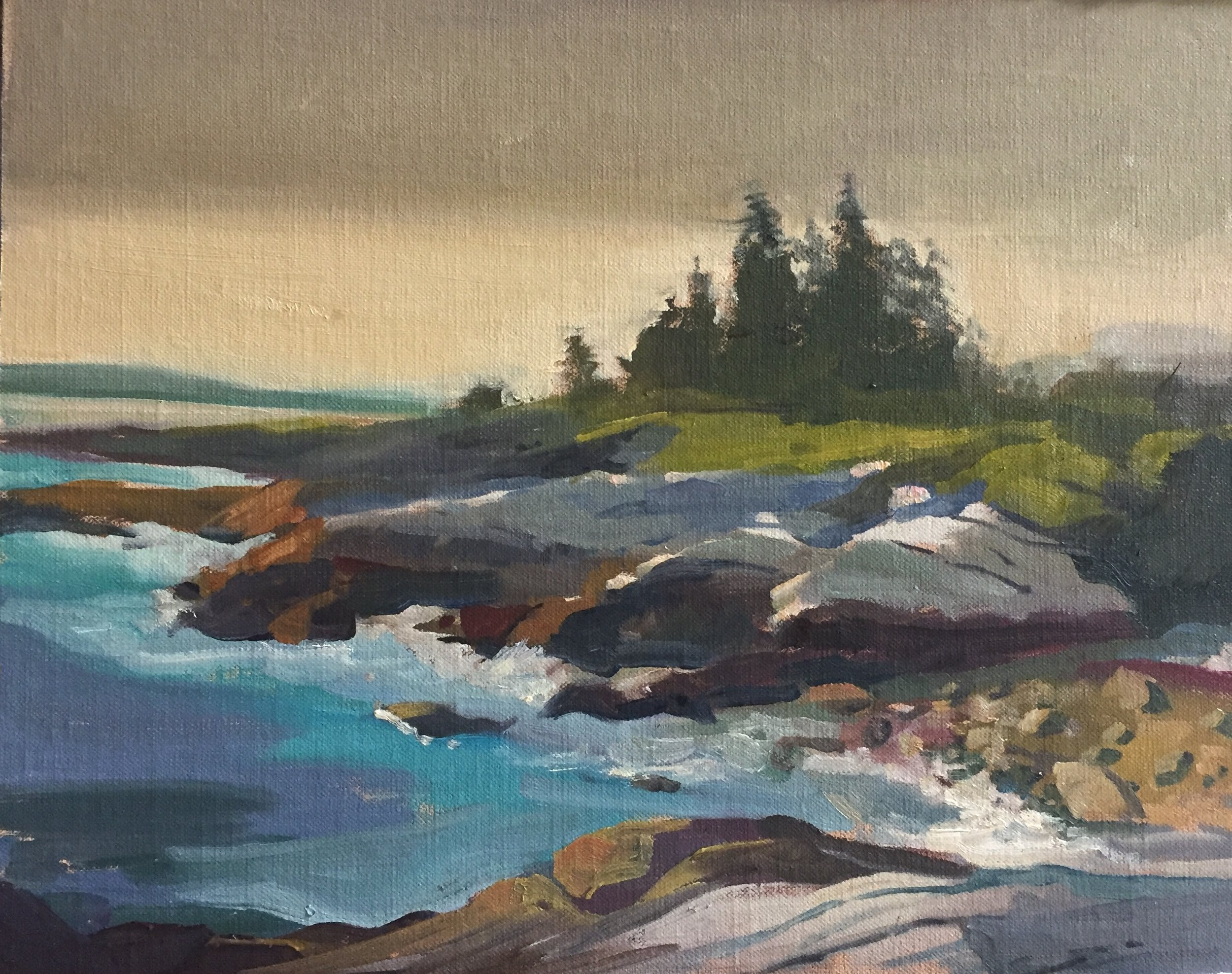 Late Light at Pemaquid<br>Oil on Canvas