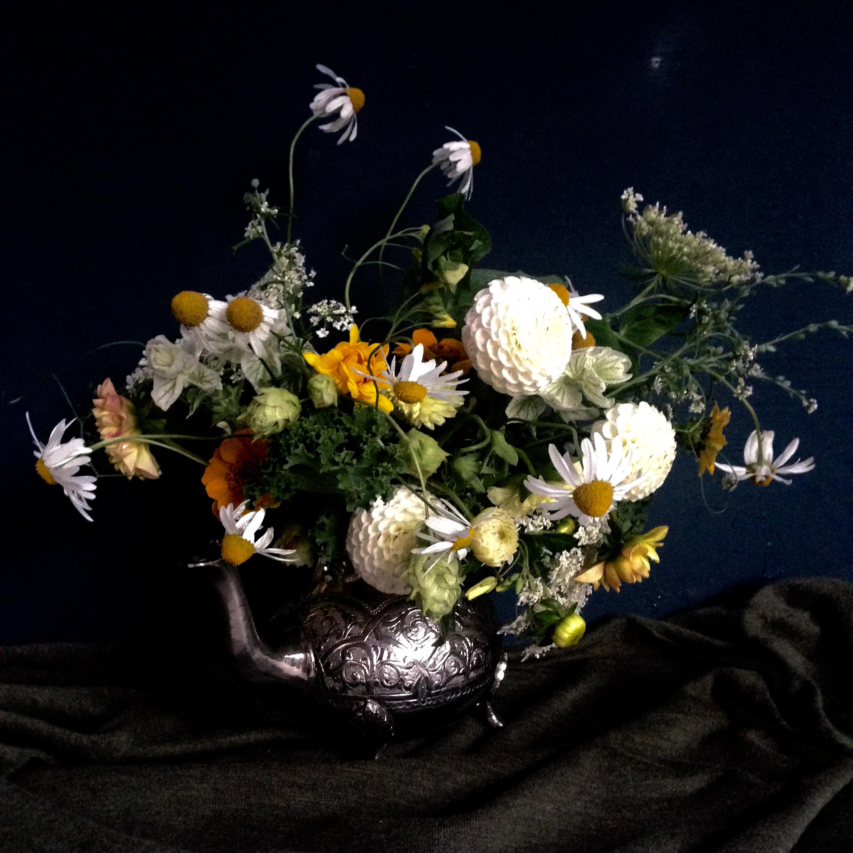 Teapot Floral Bouquet, Constance Spry