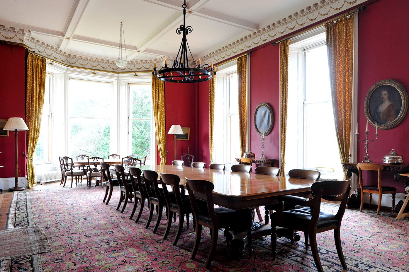 The dining room. Photo courtesy of Sir Peter Erskine
