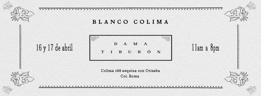 DAMA TIBURÓN EN BLANCO COLIMA   DAMA TIBURÓN