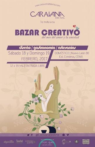 BAZAR CREATIVO DE CARAVANA DEL ARTE EN LA CONDESA, CDMX