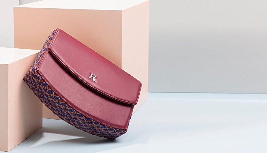 Clutch Piel y Textil hecho en Telar de Cintura - $2,900 pesos