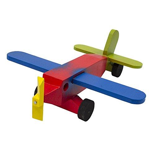 Avión de madera colores - MXN $132