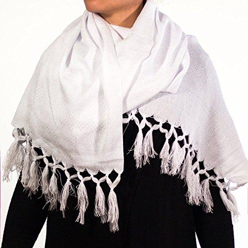 Chal bordado blanco - MXN $320.00