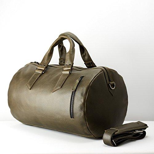Bolsa duffle de piel verde - MXN $6,749