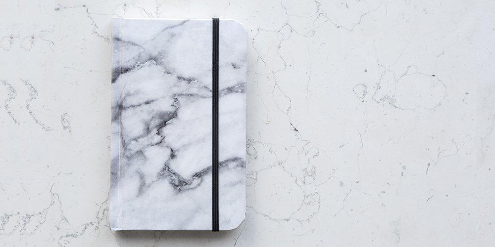 Cuaderno Papel de Piedra Mármol Blanco - MXN $200.00