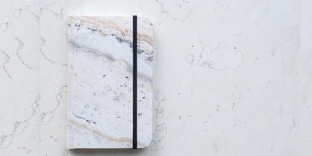 Cuaderno Papel de Piedra Mármol Rosa - MXN $200.00