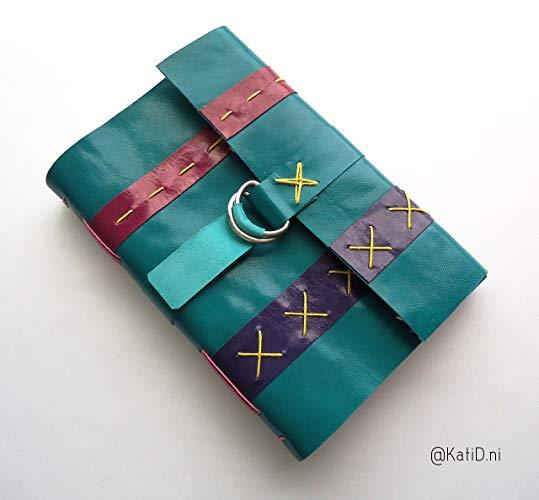 Cuaderno de viaje Multicolor, piel y costuras - MXN $600.00