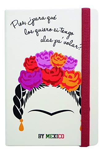Libreta Rayada Frida Floreada - MXN $289.00