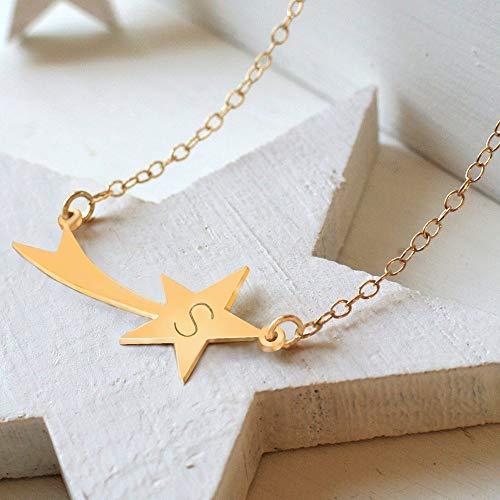 Collar estrella fugaz personalizado - MXN $950