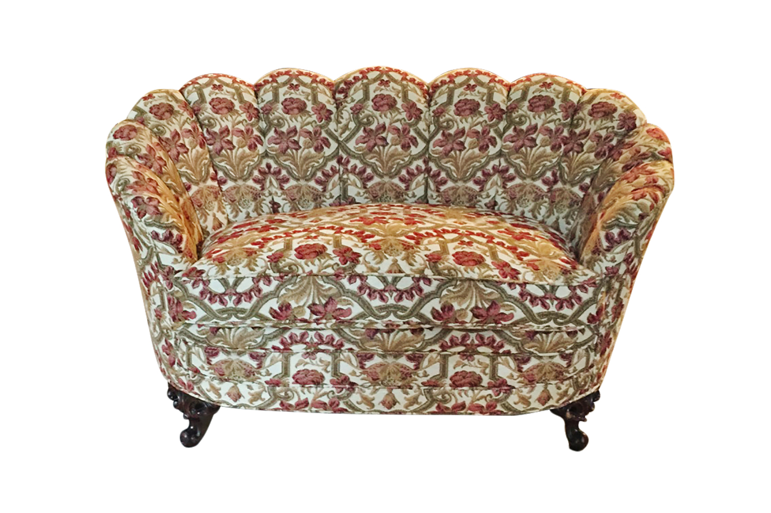 Reupholstering a vintage loveseat San Francisco Bay Area and Los Angeles