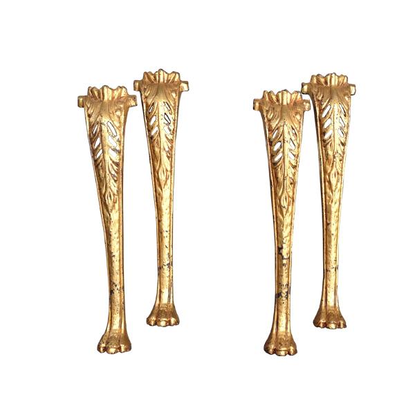 Antique gilded furniture legs