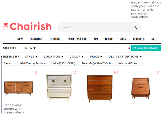 Tips for shopping for vintage furniture on Chairish