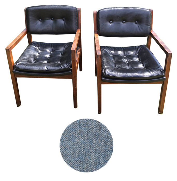 Reupholster Danish mid century modern chairs San Francisco Bay Area and Los Angeles