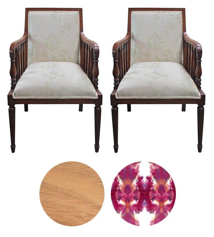 Restoring and reupholstering Antique mahogany chairs San Francisco Bay Area and Los Angeles