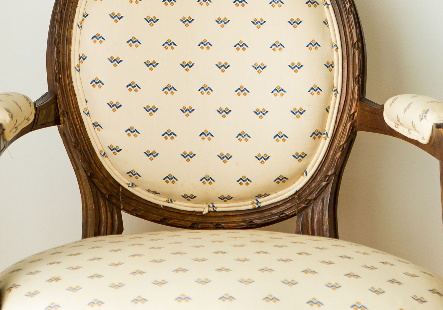 Antique chair reupholstery San Francisco Bay Area and Los Angeles