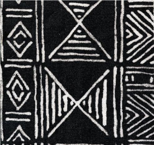 mud cloth - black