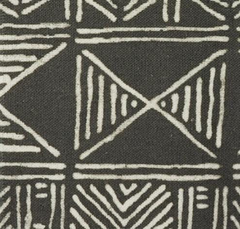 mud cloth - charcoal