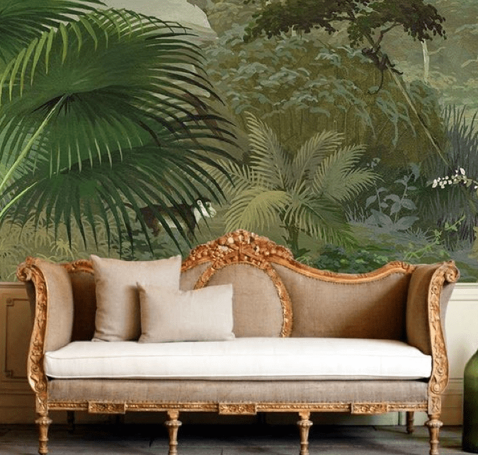 Reupholstered antique settee San Francisco Bay Area and Los Angeles