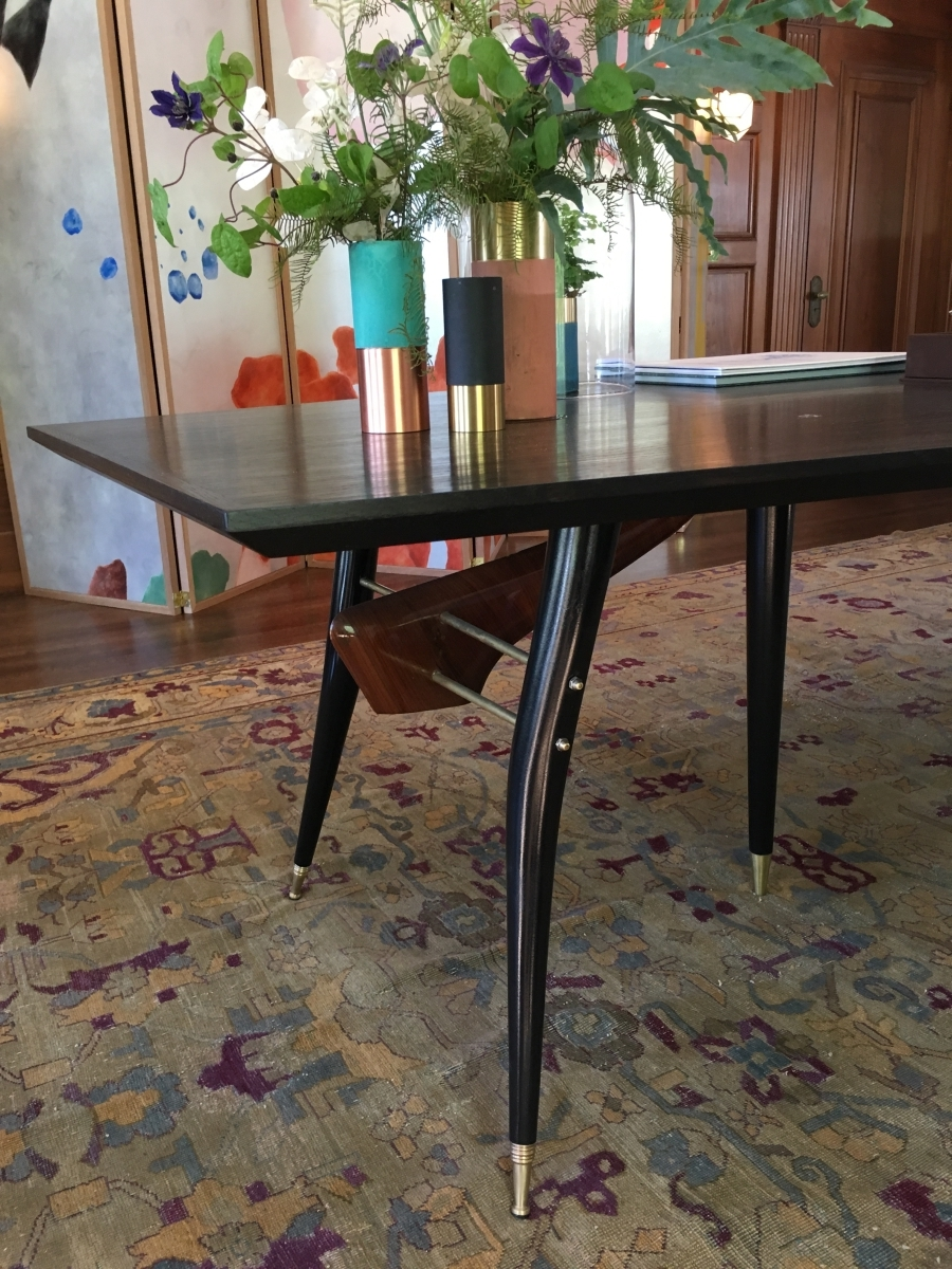 Restored vintage Gio Ponti dining table San Francisco Bay Area and Los Angeles