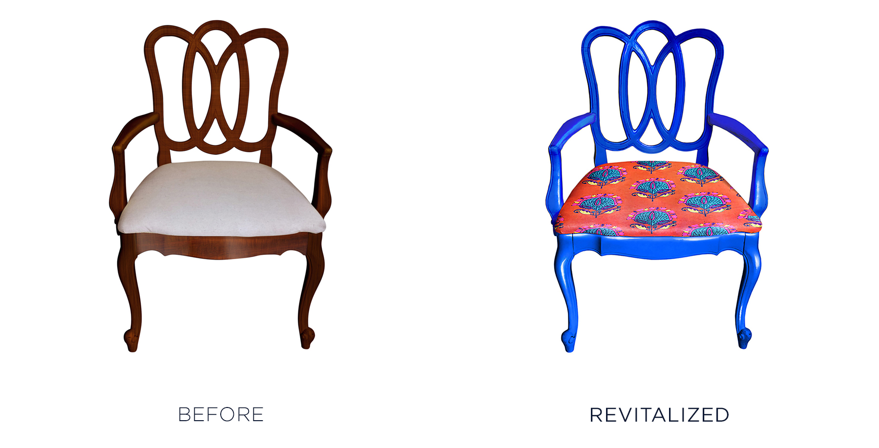 Tip: Go Graphic - Reupholster an inherited chair with a modern graphic pattern that will turn heads.