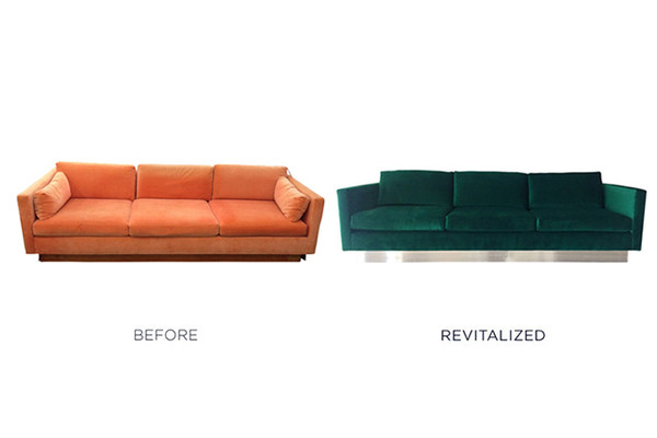 Tip: Leg Lift - Switch out the base legs of an upholstered piece for a completely new look.