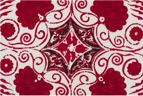 Penny Morrison Arabella in red  | Upholstery Fabric San Francisco Bay Area and Los Angeles