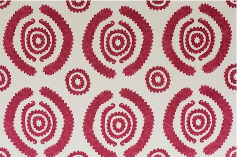 Penny Morrison Haveli in Red | Upholstery Fabric San Francisco Bay Area and Los Angeles