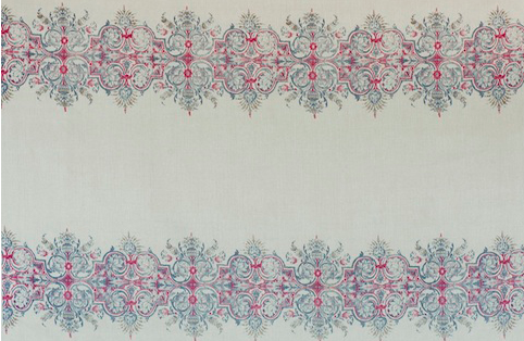 Penny Morrison Karlstad in Blue/Red | Upholstery Fabric San Francisco Bay Area and Los Angeles