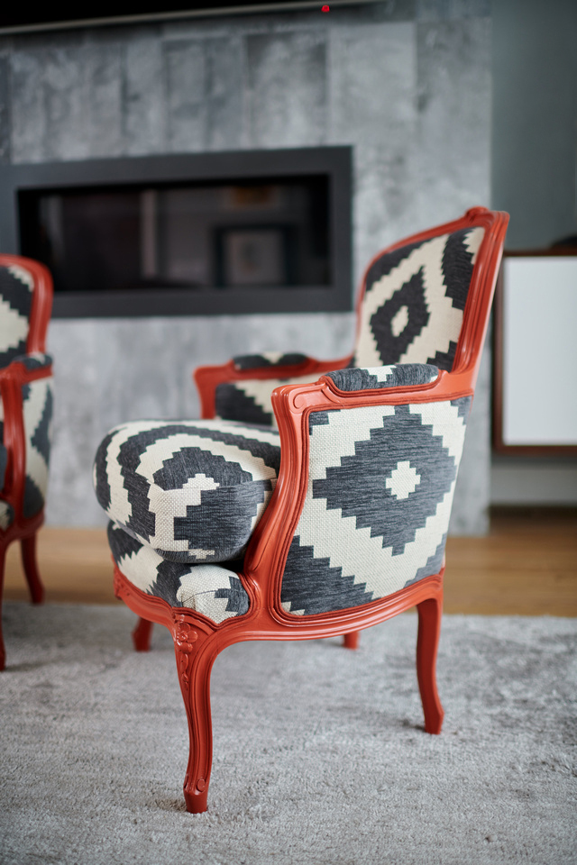 Reupholstering a bergere chair San Francisco Bay Area and Los Angeles