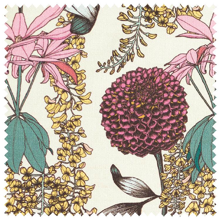 "Abigail Borg ""Laburnum"" in Raspberry Upholstery Fabric"