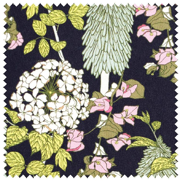 Abigail Borg Polka Polka Navy Upholstery Fabric