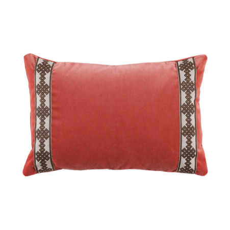 Revitaliste custom pillows with ribbon trim / tape trim