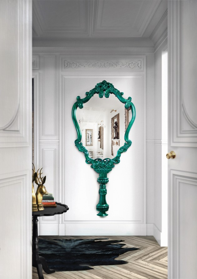 Lacquered mirror frames