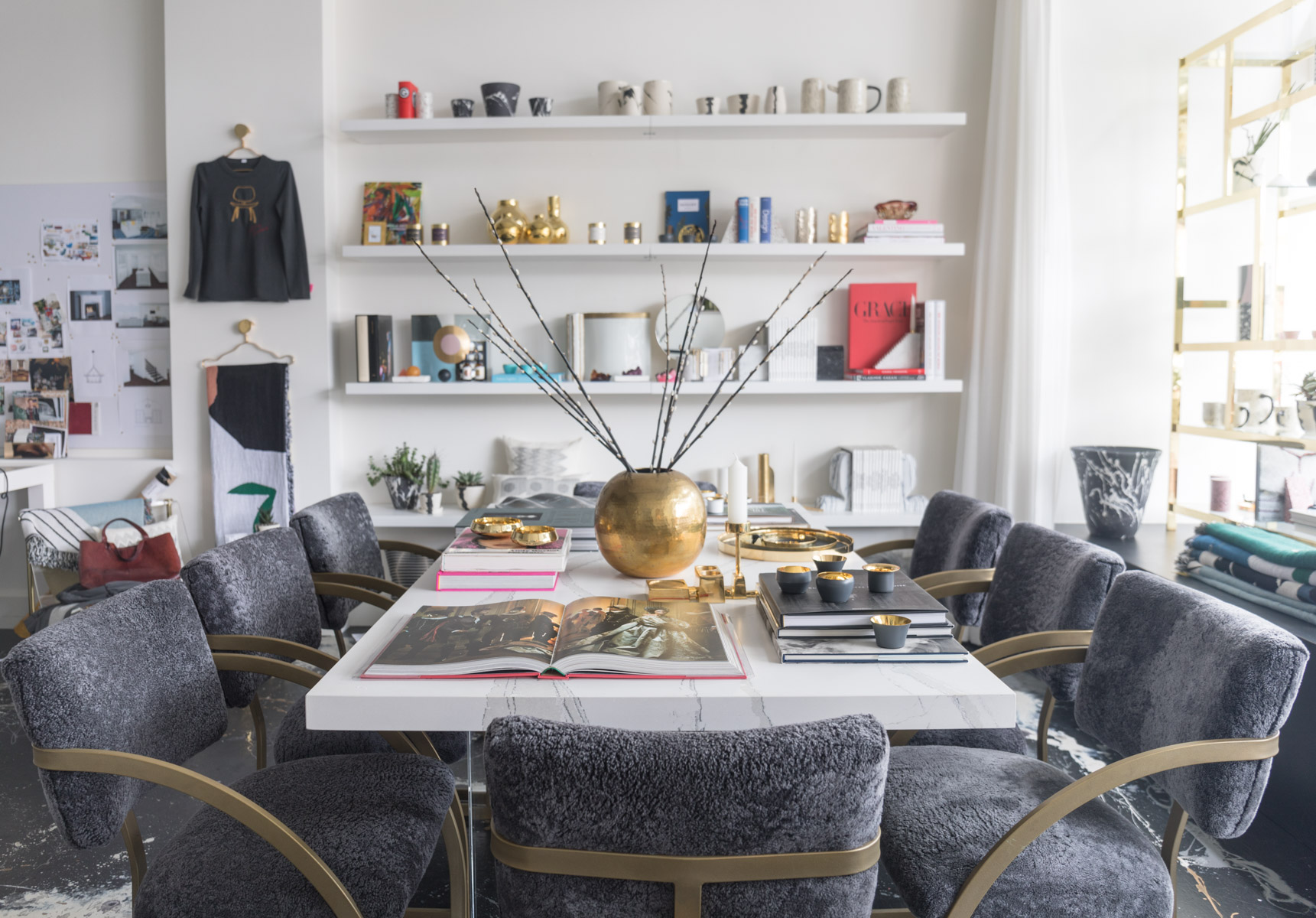 Restored vintage chairs in HSH Interiors San Francisco boutique