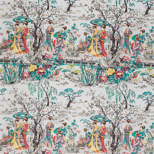 3. 'Japanese Garden' by Osborne and Little - Nothing says spring like cherry blossoms. We love this unique yet classic Japanese chinoiserie from Osborne and Little.