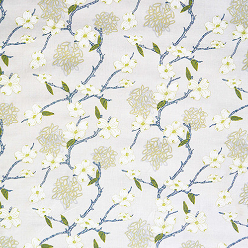 5. 'Lexington' by Ferrick Mason in Dogwood - This neutral Dogwood flower pattern could work just about anywhere. 100% linen, it feels fresh, crisp and classic.