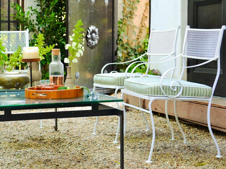 Powder coating outdoor furniture Los Angeles and San Francisco Bay Area