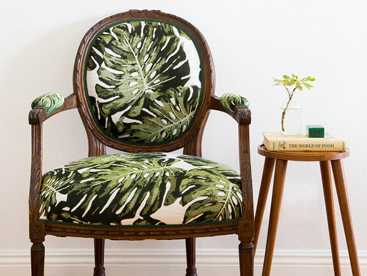 """with Revitaliste, reupholstering doesn't feel like a chore. - """"By working with Revitaliste, reupholstering an old chair doesn't feel like such a chore. They're pros, have great creative ideas and feedback, and are patient.""""LAUREL & WOLF"""